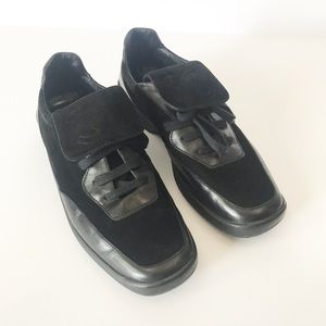 Vintage CHANEL Suede and Leather Lace Up Sneaker